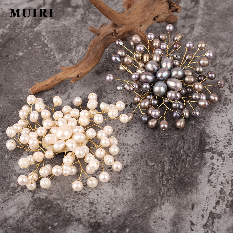 Natural Pearls Brooches Pins For Women Handmade Muslim Hijab Pin Safety Scarf Brooch Mujer Female Broches New 2018 Jewelry Gifts brooch pins pink flamingo brooches for women love cute gift enamel lapel pin broche broches 2018 fashion jewelry accessories