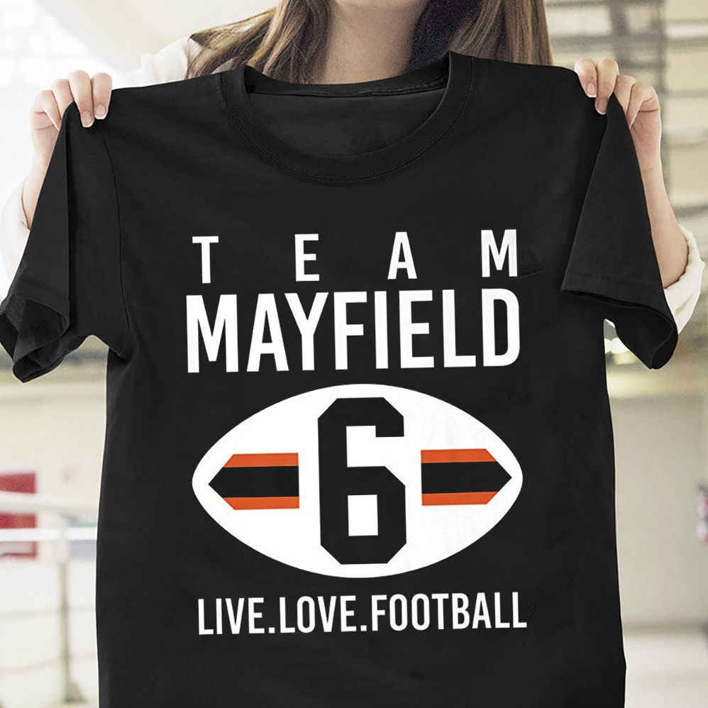92829636d Baker Mayfield Team Mayfield Live Love Football Black Cotton Men M-3XL T  Shirt Cool