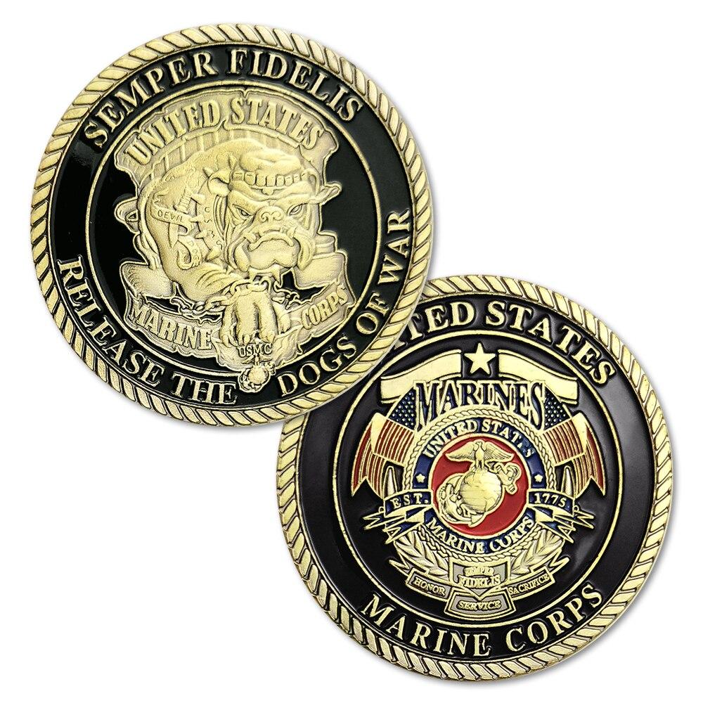 1/3/5/10 teile/los Neue Semper Fidelis Release die Hunde des Krieges US Marine Corps USMC Devil Dogs Herausforderung Münze