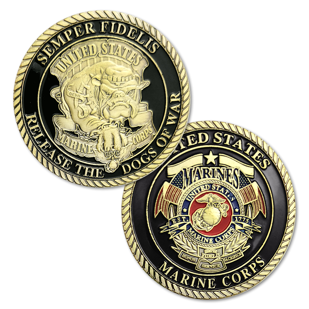 1/3/5/10pcs/lot New Semper Fidelis Release the Dogs of War US Marine Corps USMC Devil Dogs Challenge Coin