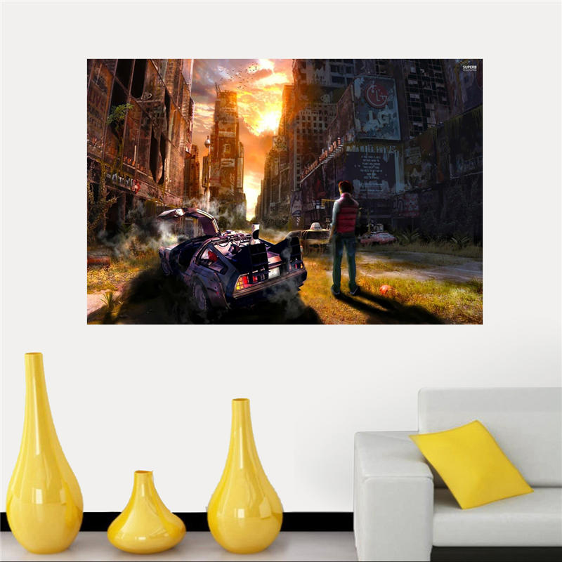 Back to the Future Poster Artist Canvas Painting Wall Silk Poster cloth print Custom Print your image Fabric Poster SQ0429-ZHH
