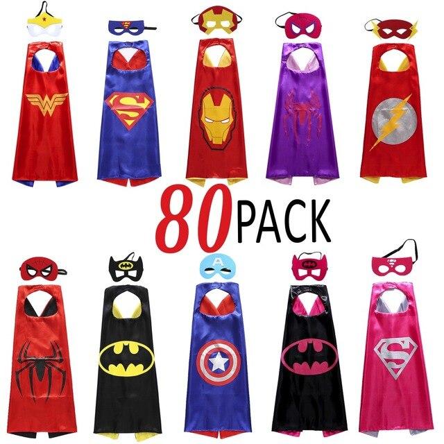 80 Pezzi 8 Disegni Mantelli di Supereroi e Maschere 389f9978446