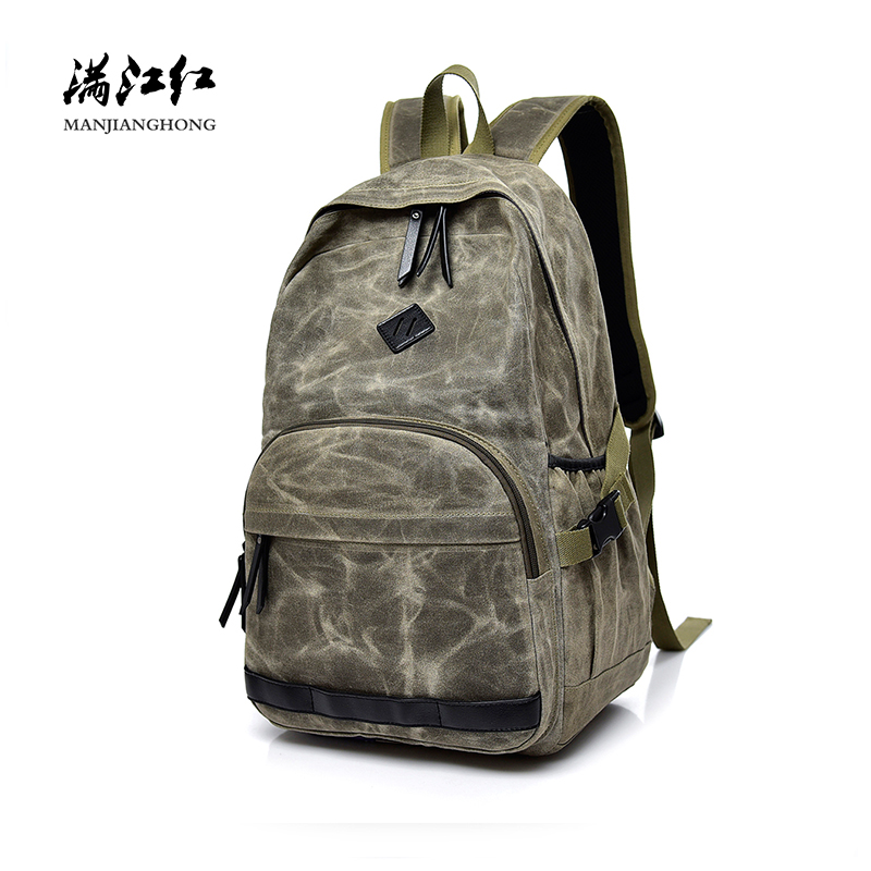 Paraffin Wax Canvas Men Backpacks Women Travel Bags Vintage Retro School Backpack For Teenage Girls Casual Laptop Backpack 1419 bacisco men women backpack 16inch laptop backpacks for teenage girls casual travel bags daypack canvas backpack school mochila
