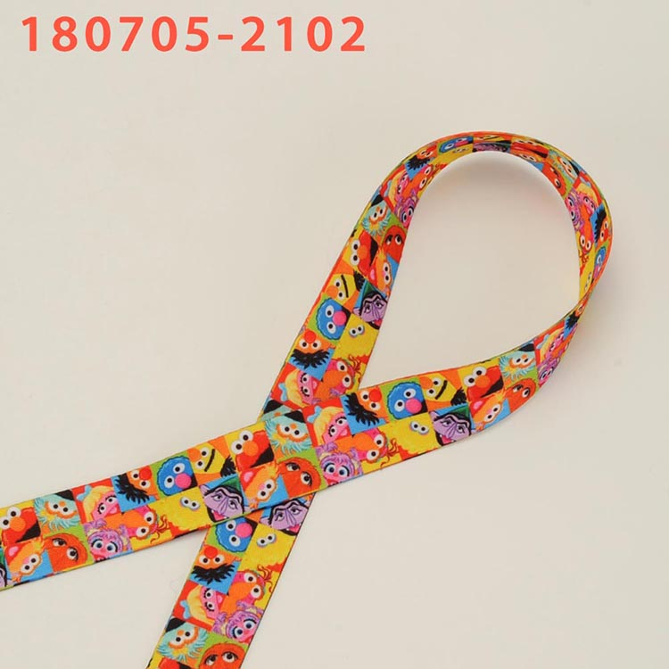 US $27 36 24% OFF|New 100 yards cartoon sesame street pattern lanyards  ribbon double printed Polyeste lanyard ribbon-in Ribbons from Home & Garden  on