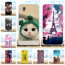 For Alcatel 1 2019 Case Ultra Thin Soft TPU Silicone Cover Paris Tower Patterned Funda Bag