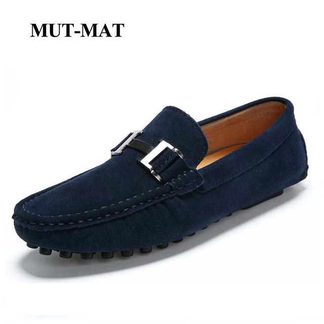 Loafers Peas Shoes Man Driving Genuine Leather British Style Sneakers Pigskin Upper Retro Soft Sole Leisure Breathable Footwear