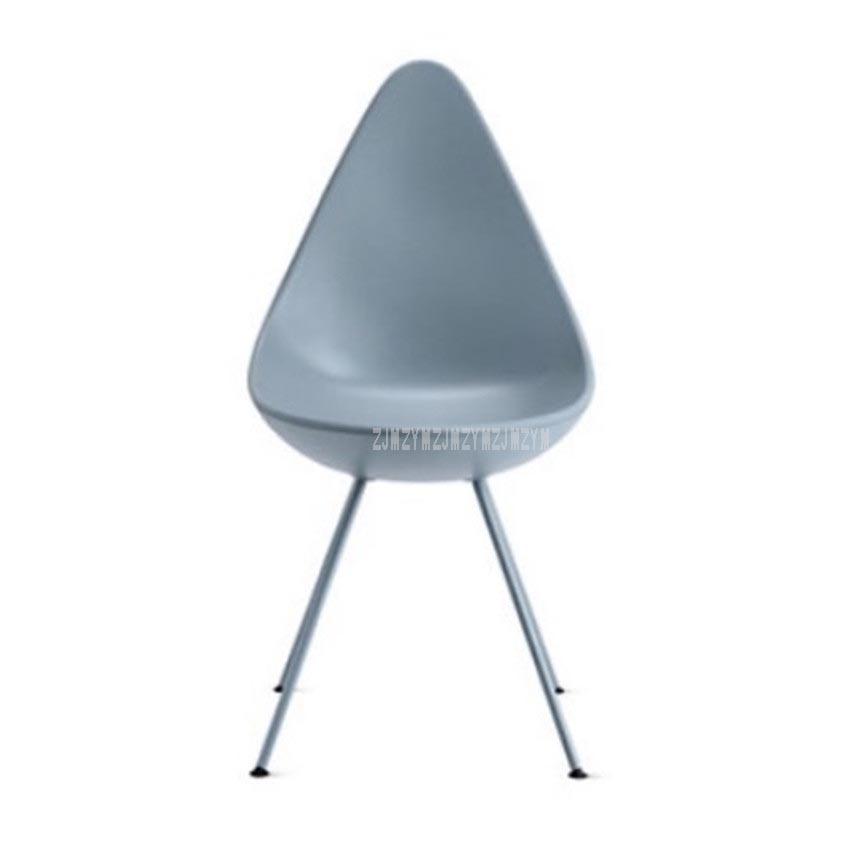 Modern Nordic Minimalist Coffee Cafe Chair Plastic ABS Water Drop Deisgn Backrest Coffee Shop Office Reception Leisure Chair