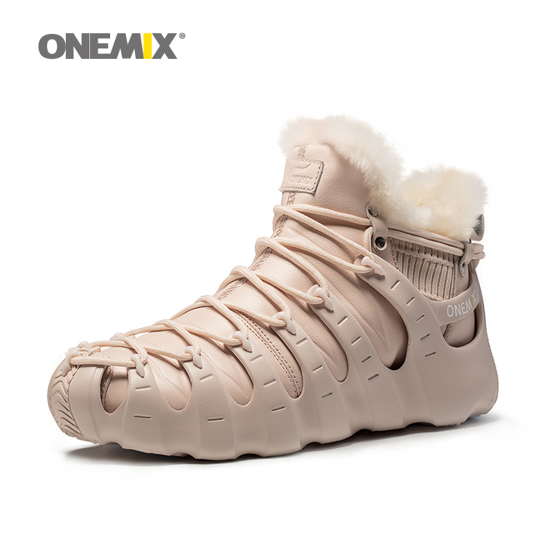 Onemix winter boots for men keeping warm at 28 degrees Shoes walking shoes   for women outdoor trekking shoe no glue sneakers new hot onemix winter men s trekking
