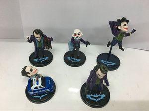 Image 2 - The Dark Knight Joker 5pcs/set   PVC Action Figure Collectible Model Toy 6~10cm KT2467