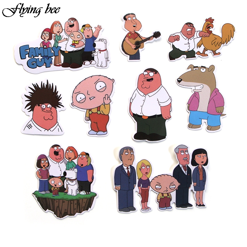 Image 4 - Flyingbee 55 Pcs Family Guy funny Anime Sticker Decals Scrapbooking Stickers for DIY Luggage Laptop Skateboard Car X0010-in Stickers from Consumer Electronics