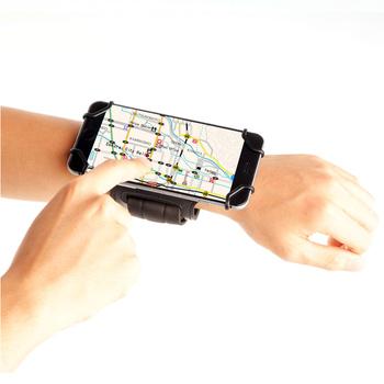 Opaska do biegania TFY uchwyt na pasek na rękę z gniazdo klucza do telefonów komórkowych od 4 do 5 4 cala-telefony iP telefony samsung Galaxy i więcej tanie i dobre opinie 3BANDPHONE Universal