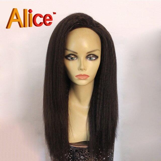180% Density Coarse Yaki Full Lace Wigs For Black Women U Part Human Hair  Wig 994b167d5d