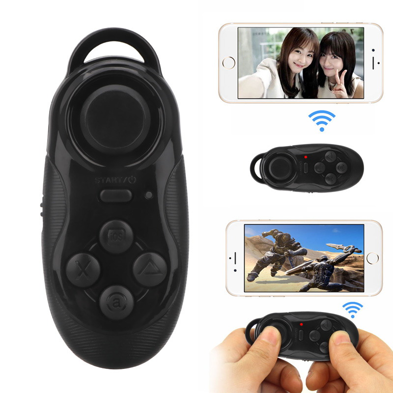 Wireless Bluetooth Gamepad Self Timer Game Controller Joystick Selfie Remote Shutter Mouse for iOS Android Smartphone TV Box terios s3 wireless bluetooth gamepad bluetooth joystick gaming controller black for android smartphone tablet pc holder included