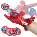 Marvel Avengers Super Heroes Gloves Laucher Spiderman Batman Ironman Cosplay One Size Glove Gants Props Christmas Gift for Kid