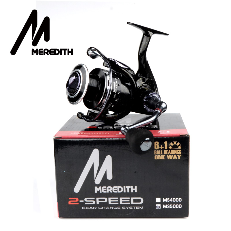 Meredith 6BB 1RB Drag Spinning Reel with Larger Spool 8 12KG Max Drag Sea Boat Spinning Fishing Reel in Fishing Reels from Sports Entertainment