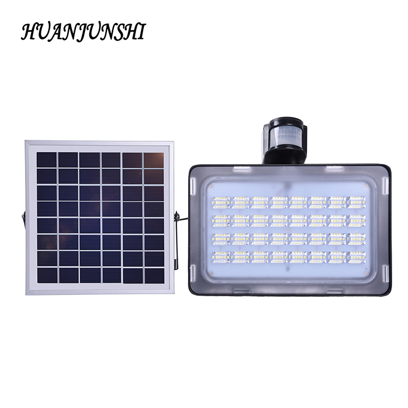 50w LED Solar Light Outdoor LED Solar Powered Garden Lights PIR Body Motion Sensor Solar Floodlight Spotlight Lamp For Yard 2pcs ds 360 solar sensor led light black