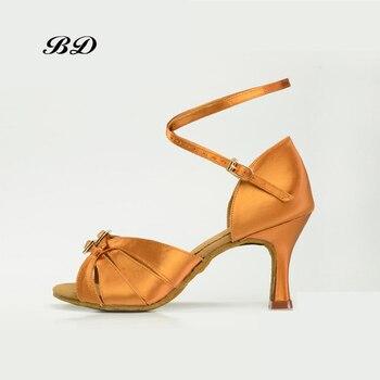 d31b585e44 BD 2307 zapatos de baile Mujer Latina zapatos de baile niña Mujer Sandalias  tacones altos satén BDDABCE auténtico SALSA Tango