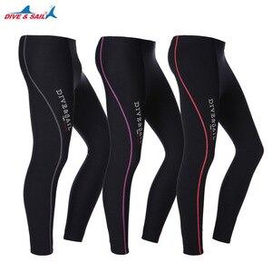 Image 1 - 1.5MM neopren dalış ayak bileği uzunlukta pantolon erkekler kadınlar için dalış Capri pantolon yüzme kürek yelken sörf sıcak