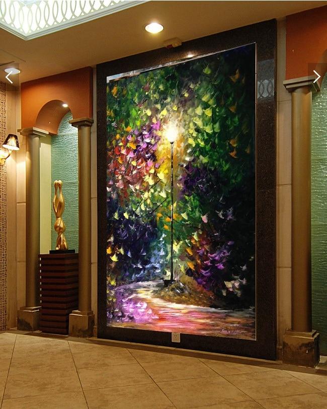 3d room wallpaper custom non-woven wall sticker 3d Dream street lights porch painting photo 3d walls murals wallpaper