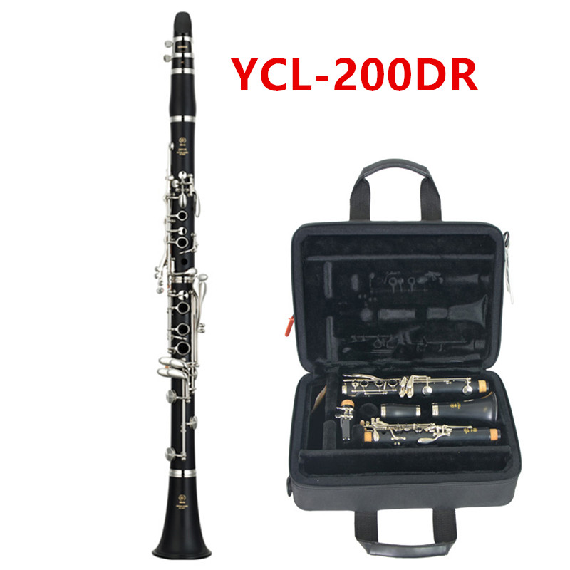 Top Japan YCL-200DR Clarinet 17 Key with Case Playing Clarinet Accessories Musical Instruments Free Shipping