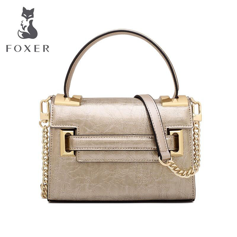 FOXER 2019 New women leather bag fashion Luxury mini quality tote handbags women leather shoulder bag Handbags & Crossbody bagsFOXER 2019 New women leather bag fashion Luxury mini quality tote handbags women leather shoulder bag Handbags & Crossbody bags