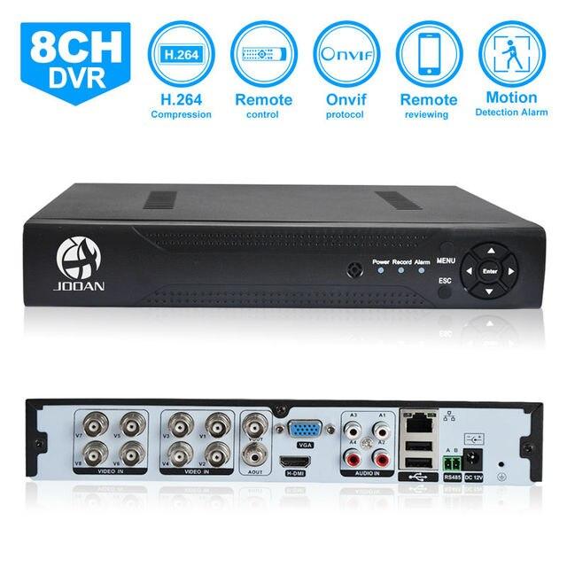 Jooan 3218 t 8ch cctv gravador dvr 960 h h.264 full d1 p2p nuvem gravador de vídeo digital de rede básica