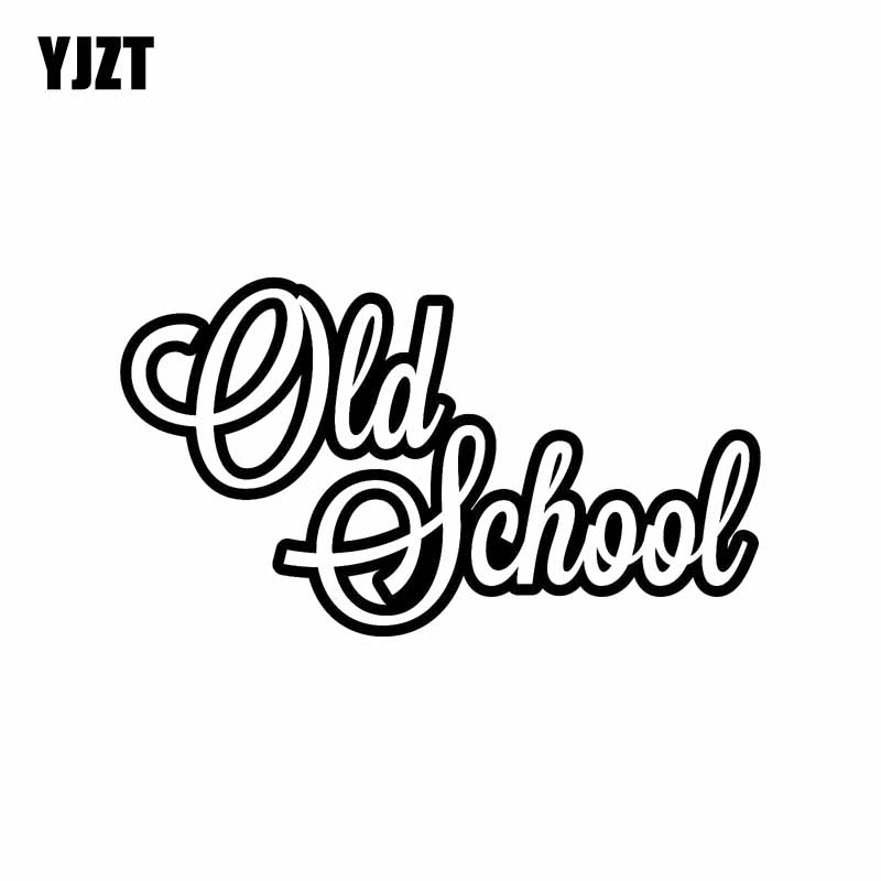 Audacious Yjzt 15cm*8.5cm Large Old School Decal Funny Vinyl Car Sticker Black Silver C10-01084 Colours Are Striking Car Stickers