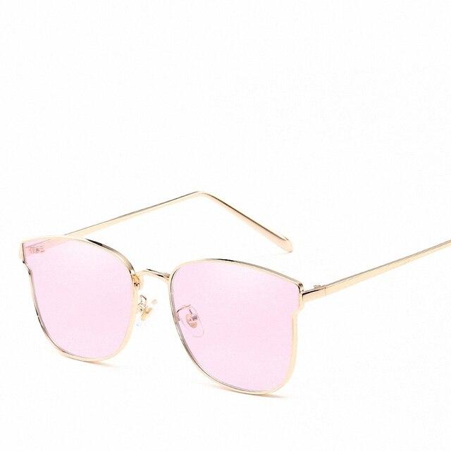 Armações de metal Rodada Lentes de Revestimento Das Mulheres Da Marca Retro  Óculos Novos Acessórios Decore 06d831b5ca