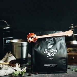 Два в одном, кофейная ложка из нержавеющей стали, уплотнительный зажим для кухни, золотые аксессуары для получателя, украшение для кафе Expresso Cucharilla