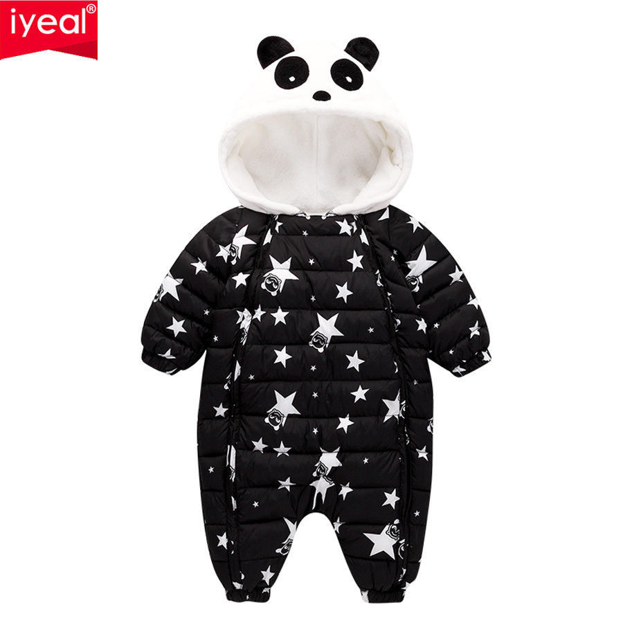 IYEAL New Fashion Newborn Winter Outerwear Baby Boy Girl Rompers Cotton Padded Panda Infant Clothes Thickening Jumpsuit цена