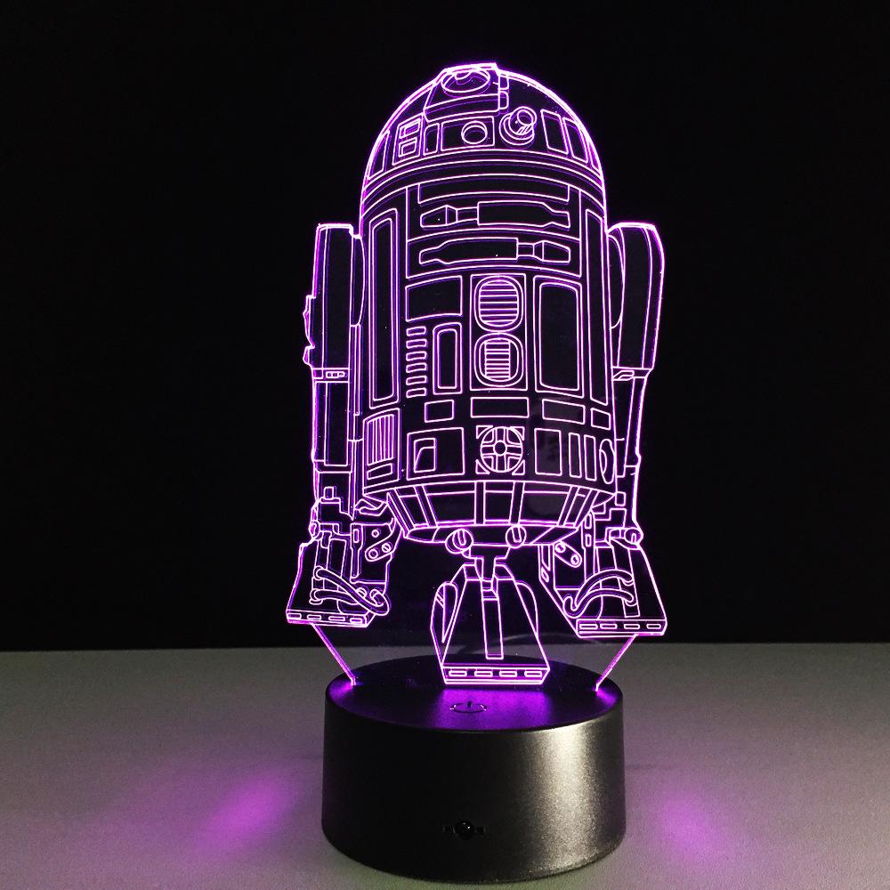 The New Star Wars battleship 3D LED desk lamp bedside Nightlight Power Bank Usb Led 3d Lamp Night Light