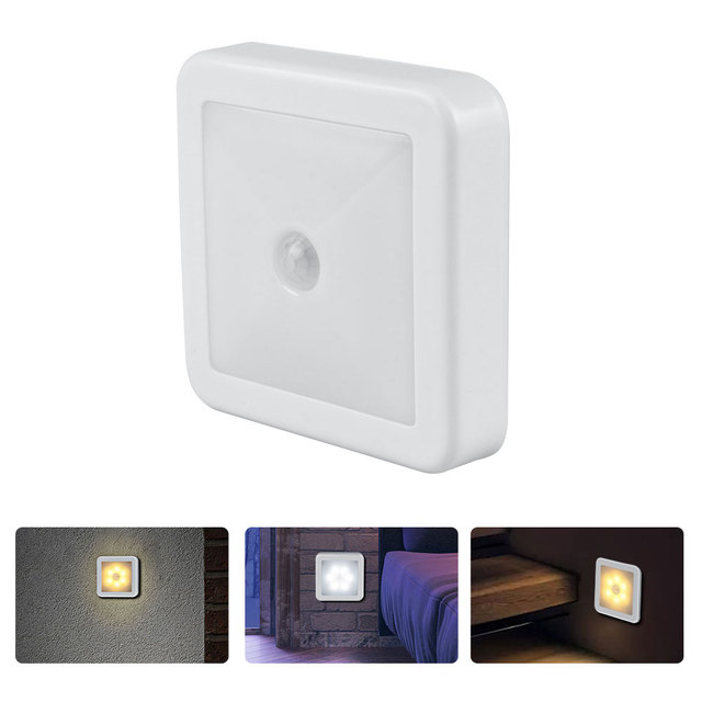 New Night Light Smart Motion Sensor LED Night Lamp Battery Operated WC Bedside Lamp For Room Hallway Pathway Toilet DA 1