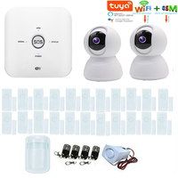 SmartYIBA Home WIFI Alarm Systems Tuya APP IP Camera Kits Smart Residential Alarmas For Amazon Alexa GSM Smart Security System