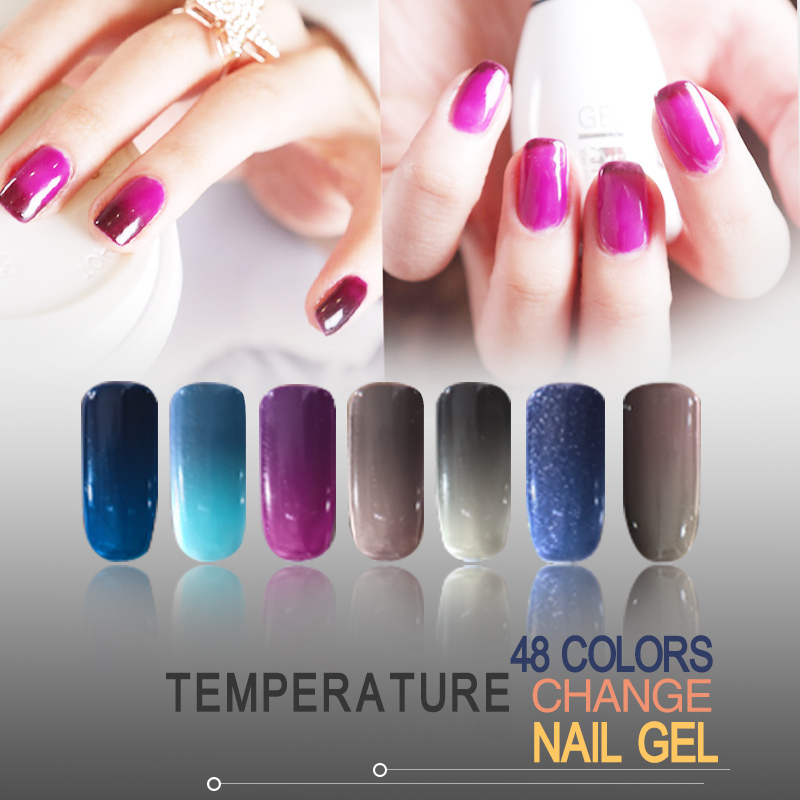 Uv Gel Nail Polish Temperature Change Color 15ml 1 Pc For Soak Off 48 In From Beauty Health On