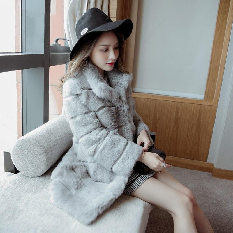 90 grey Toute black Red Long Vraie Femmes M Lapin Vague Vestes Hiver Fourrure Cm La Manteaux 2018 Plus Taille Couper 6xl De Peau Automne Naturel q7SyFWBgt