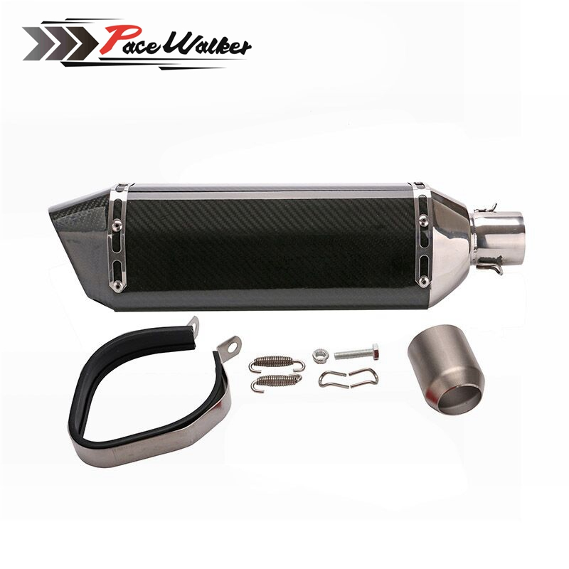 Real carbon 480mm length Super Performance Universal Motorcycle Modified Scooter Exhaust Muffle pipe GY6 CBR125 CBR250 CB400 bjmoto universal motorcycle exhaust modified scooter akrapovic exhaust muffle fit for most motorcycle