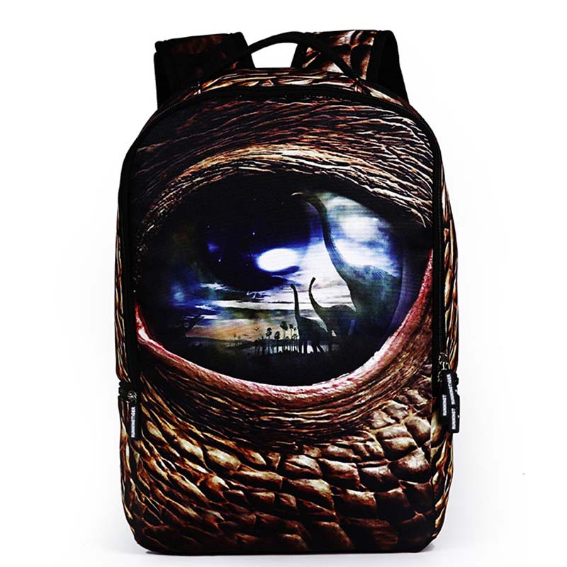 Ou Mo brand 3D printing Cartoon animal laptop man backpack Women computer bag anti theft backpack school Bag teenagers Backpack in Backpacks from Luggage Bags