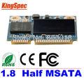 Kingspec metade msata ssd de 128 gb sata3 iii 6 gb/s ssd de 120 gb msata para tablet pc disco rígido para samsung sinal de sinal pc para intel pc