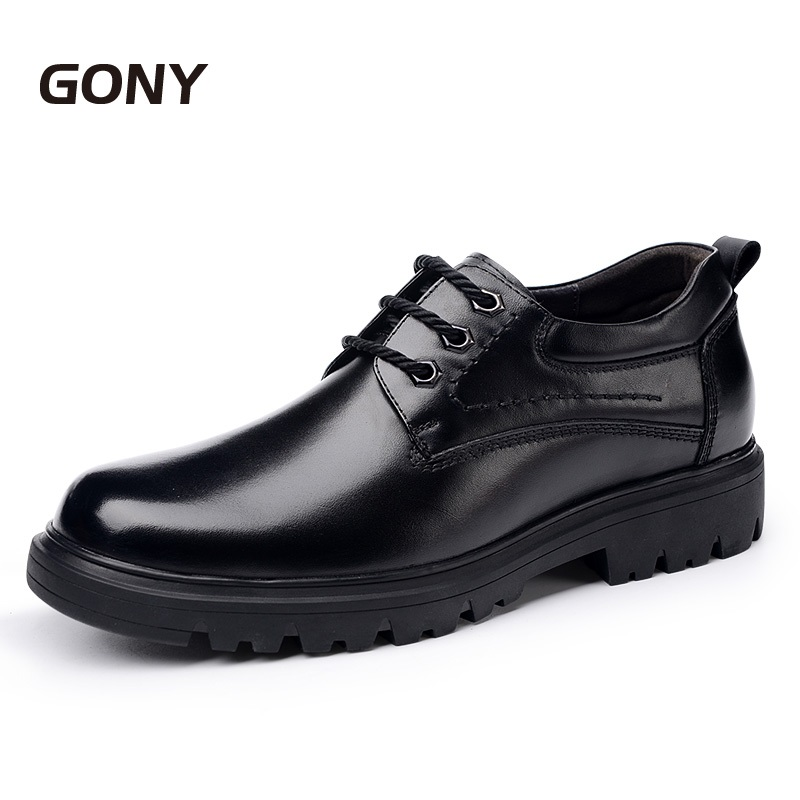 Newest 2018 Comfortable Mens 100% Genuine Leather Height Increasing Elevated Shoes Grow Taller 6CM for Men