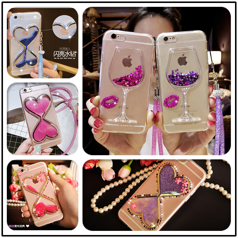 Rhinestone Cases Phone Bags & Cases Luxury Glitter Hourglass Liquid Sand Tpu Case For Huawei Honor 7c 5.997c Pro Bling Crystal Coque Funda For Huawei Y7 Prime 2018