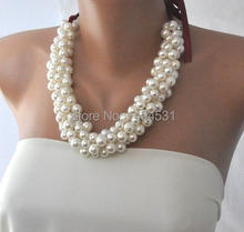 Wholesale Pearl Jewelry Handmade Wedding Pearl Necklace Brides Bridesmaids Gifts Special Occasion – XZN147