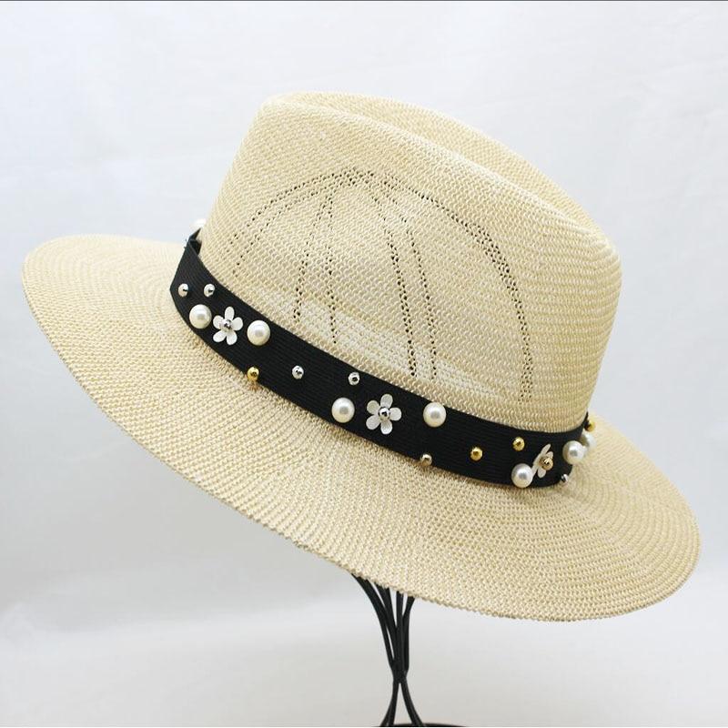 SUOGRY Summer Hats For Women Sun Hat Pear Floppy Beach Wide Brim Straw Panama Hat Female Cap