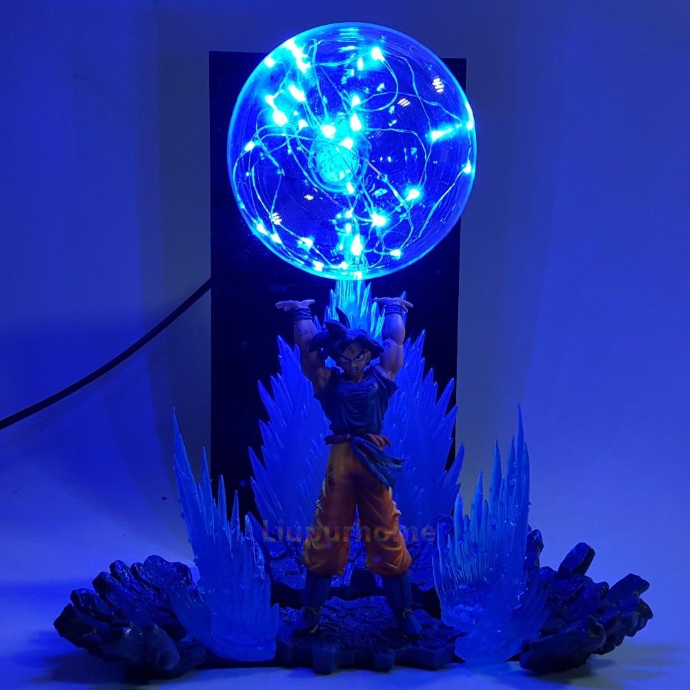 Dragon Ball Z Son Goku Spirit Bomb Led Effect Night Lights Anime Dragon Ball Z DBZ Led Table Lamp Son Goku in LED Night Lights from Lights Lighting