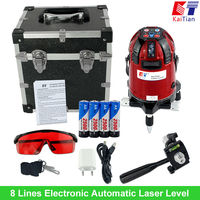 KaiTian Laser Level 8 Lines Electronic Automatic Self Leveling Cross Euro Plug Lazer Level With Battery
