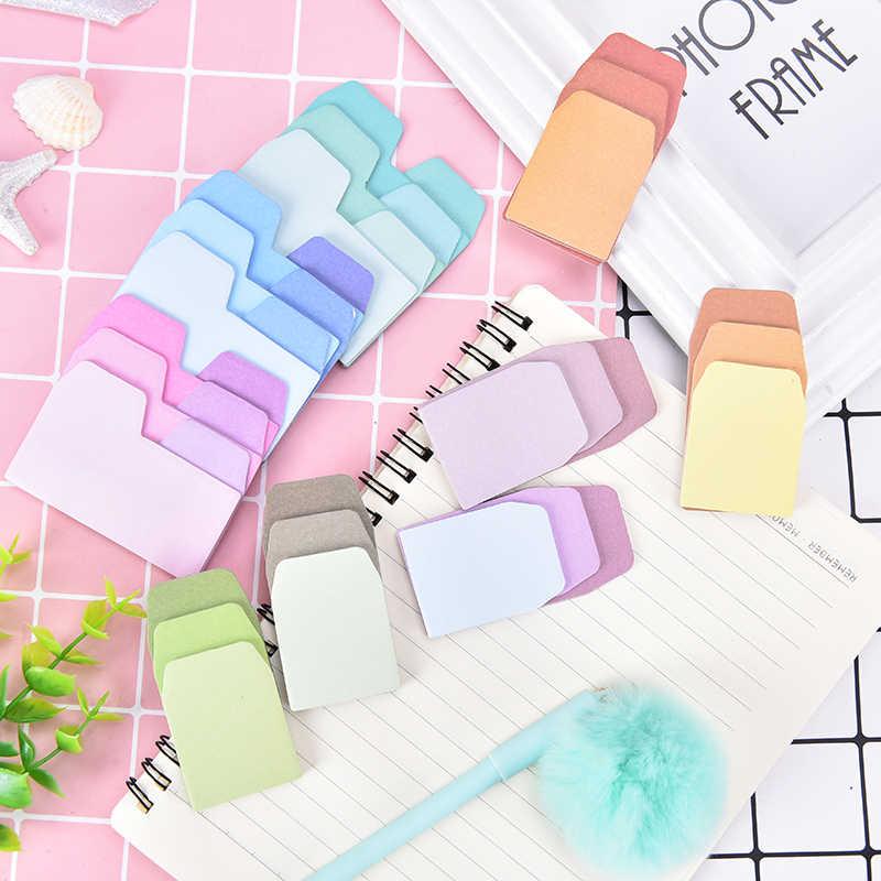 60 листов самоклеящаяся Акварельная бумага Блокнот Градиент японский Примечание наклейка для планировщика офиса школьные принадлежности