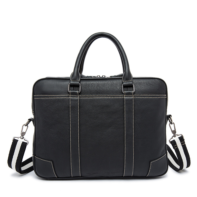 High Quality Genuine Leather Hand Made Male Bags Business head leather handbag Men's computer bags briefcase Shoulder bag new high quality male leather men laptop briefcase bag 14 inch computer bags handbag business bag single shoulder business bags