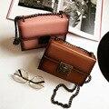 2017 fashion new handbags High quality PU leather Women bag   Korea Ladies lock chain shoulder bag Wild stereotypes Female bag