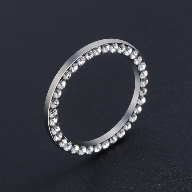 Car SUV Bling Decorative Accessories Automobiles Start Switch Button Decorative Diamond Rhinestone Ring