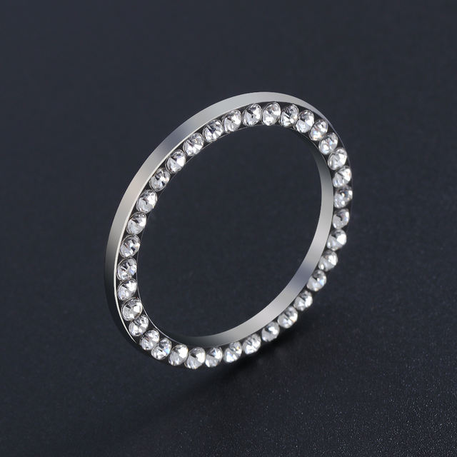 Car SUV Bling Decorative Accessories Automobiles Start Switch Button Decorative Diamond Rhinestone Ring