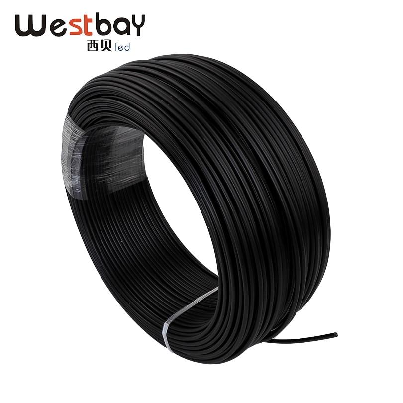 Black PE Plastic Fiber Optic Cable, Single Core, End Glow 3 Mm Optic Fiber Cable With 4 Mm Jacket For DIY Fiber Star Ceiling Kit